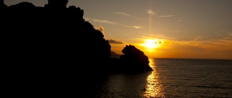 Coucher de soleil sur Porto Ota